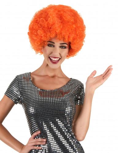 Perruque afro/ clown orange confort adulte