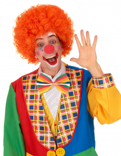 Perruque afro/ clown orange confort adulte-1