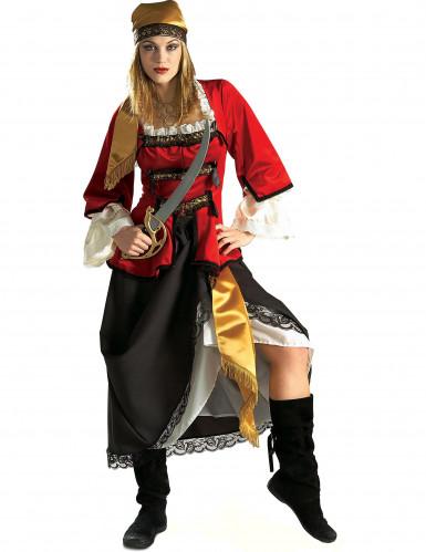 Déguisement pirate doré luxe femme