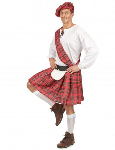 Déguisement écossais rouge et blanc homme-1