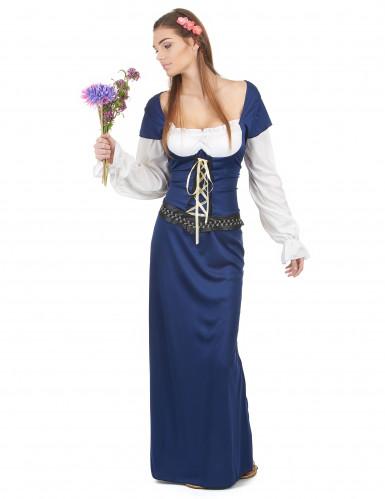 Déguisement Bavaroise robe longue bleue Femme
