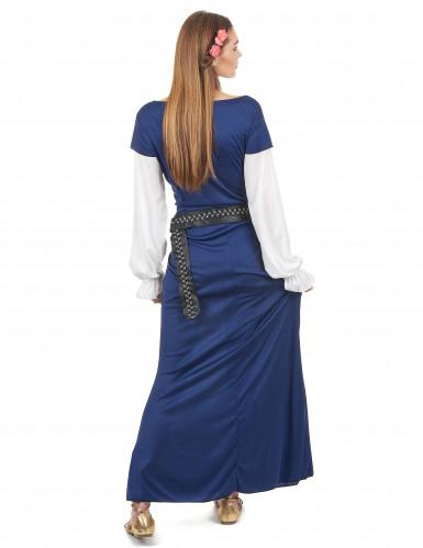 Déguisement Bavaroise robe longue bleue Femme-2