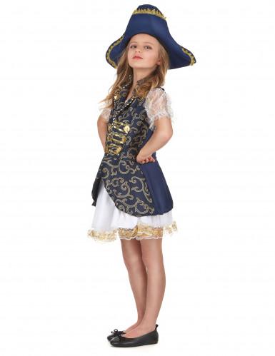 Déguisement pirate bleu foncé fille-1