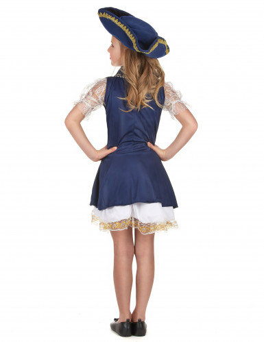 Déguisement pirate bleu foncé fille-2