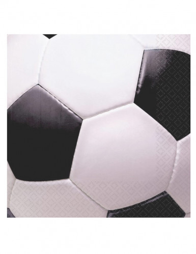 16 Serviettes en papier Ballon de foot  33 x 33 cm