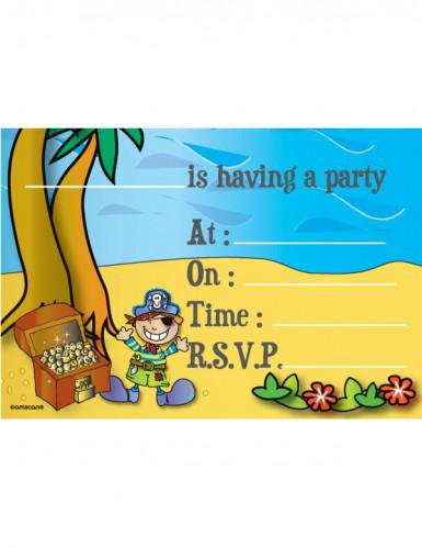 Lot 8 invitations pirate