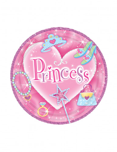 8 Minis assiettes à dessert Princess