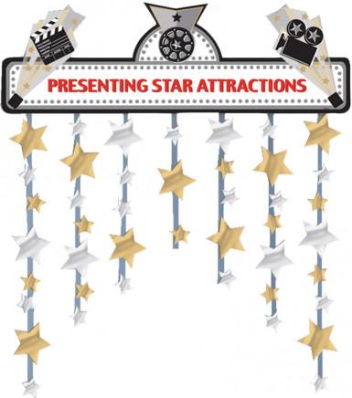 Décoration de porte étoiles
