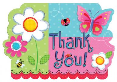 Cartes de remerciements Garden Girl