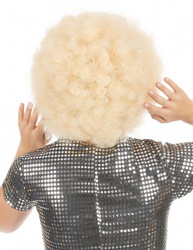 Perruque afro blonde volume femme-1