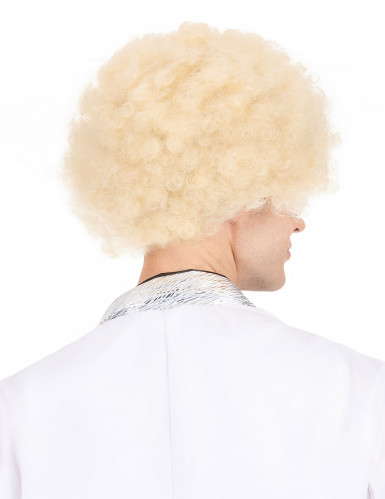 Perruque afro blonde volume femme-2