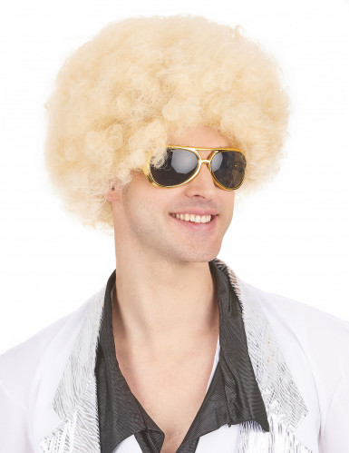 Perruque afro blonde volume femme-3