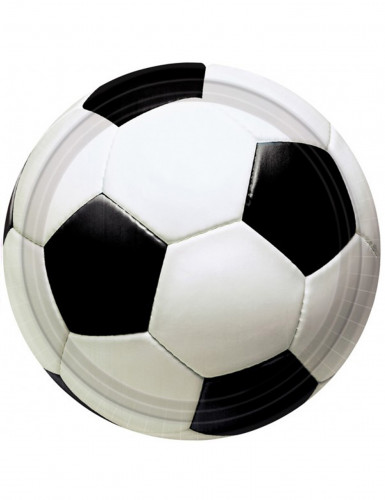 8 Assiettes ballon de foot 23 cm