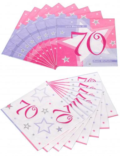 16 Serviettes en papier Ages 33 x 33 cm-2