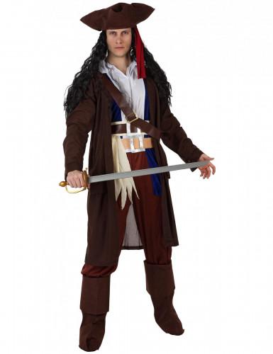 Déguisement pirate gilet marron homme