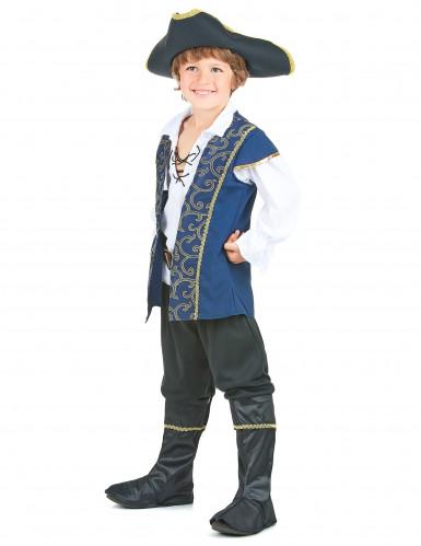 Déguisement pirate bleu et blanc garçon-1