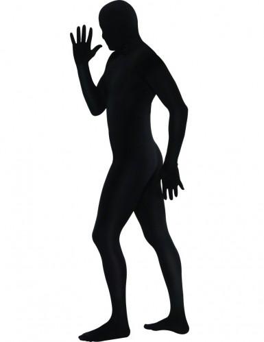 Déguisement seconde peau noir adulte-1