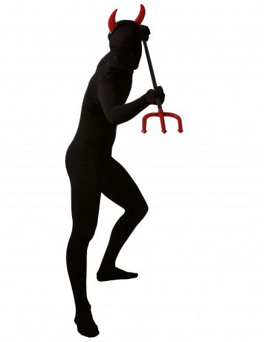 Déguisement seconde peau noir adulte-2
