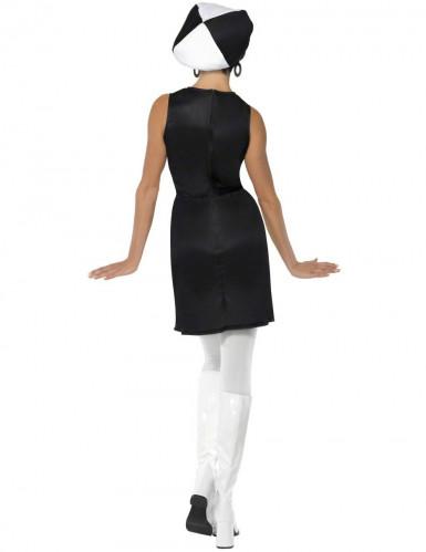 Déguisement disco femme blanc et noir-1