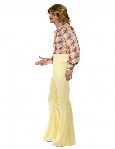 Déguisement disco années 70 jaune homme-1