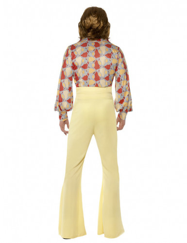 Déguisement disco années 70 jaune homme-2