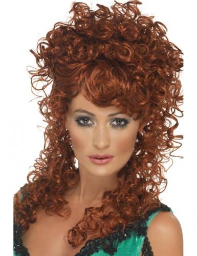 Perruque frisée rousse femme