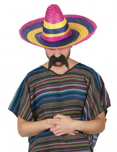 Sombrero multicolore en paille adulte-1