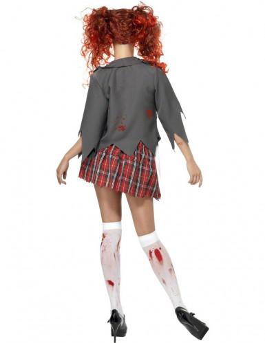 Déguisement écolière zombie Halloween femme-1