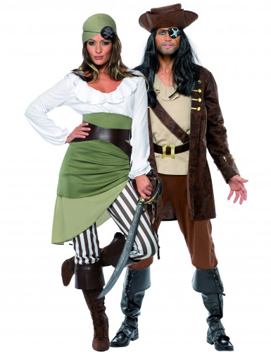 Costumes couple pirates buccaniers