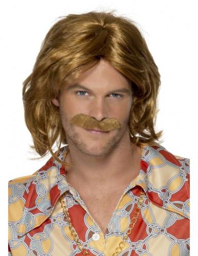 Perruque et moustache rétro homme