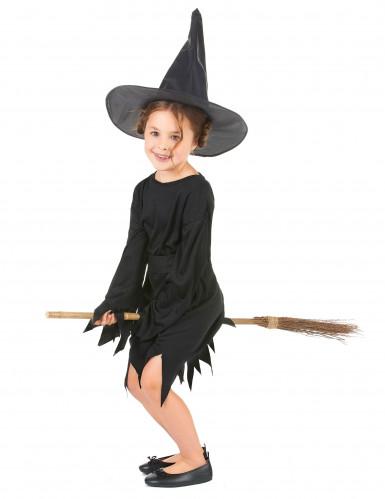 Déguisement noir de sorcière fille Halloween-1