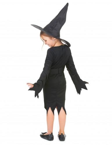 Déguisement noir de sorcière fille Halloween-2