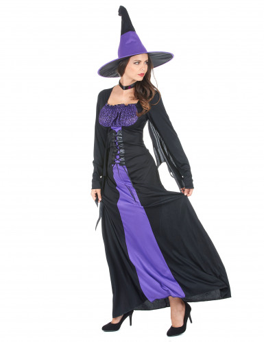 Déguisement sorcière à corsage femme Halloween-1