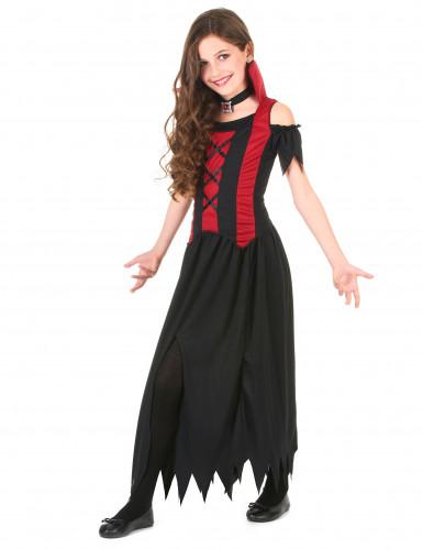 Déguisement vampire rouge fille Halloween-1