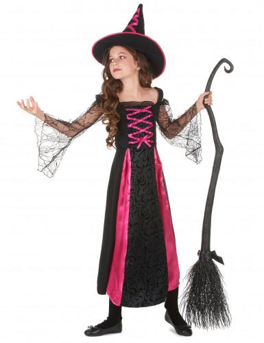 Déguisement sorcière dentelé fille Halloween-1