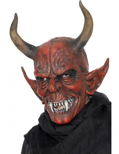 Masque démon à cornes adulte Halloween