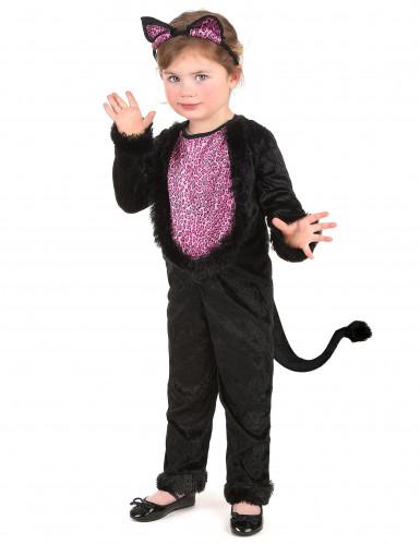 Déguisement chat imprimé léopard fille