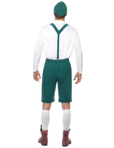Déguisement bavarois vert homme-1