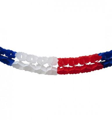 Guirlande extra tricolore France 6 mètres