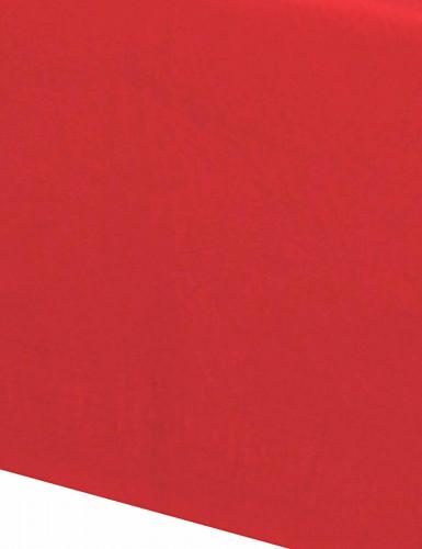 Nappe en papier rouge 140 x 280 cm-1