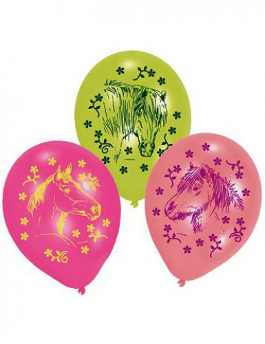 6 Ballons Charmants chevaux