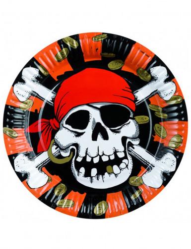 8 Assiettes Pièces de Pirate