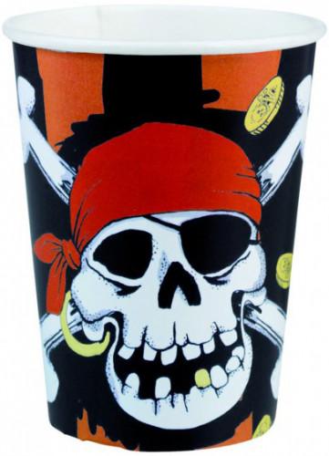 8 Gobelets Pièces de Pirate