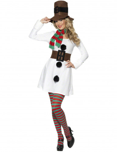 Déguisement bonhomme de neige femme Noël