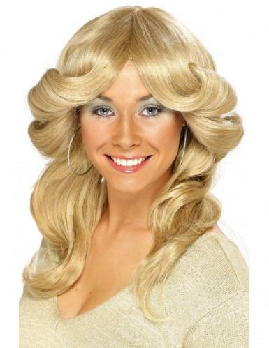 Perruque blonde années 70 femme