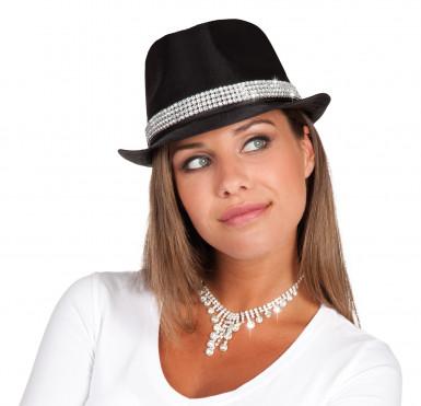 Chapeau perles brillantes