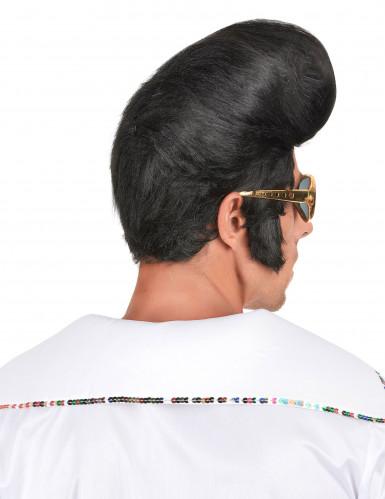 Perruque noire rock homme-1
