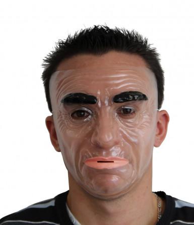 Masque visage homme sérieux