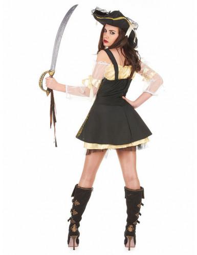 Déguisement pirate jaune femme-1