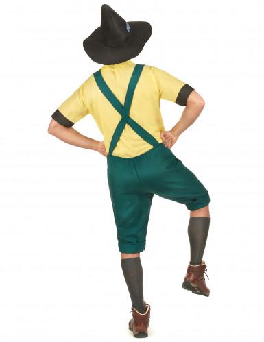 Déguisement bavarois jaune et vert homme-2